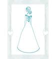 Beautiful bride - doodle vector
