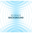 Abstract geometric background in 3d space vector