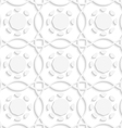White lines and geometric flowers seamles vector