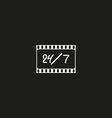 Cinema logo movie theater sign vector