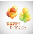 Happy birthday background with colorful vector