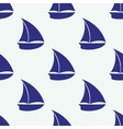 Seamless pattern with sea elements ship vector