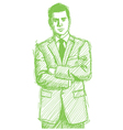 Businessman folded hands vector