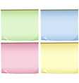 Four pads of colourful papers vector