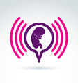 A baby embryo chat on a pregnancy theme pregna vector