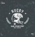 Rugby team helmet emblem vector
