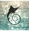 Marlin fish logo vector