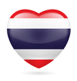 Heart icon of thailand vector