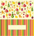 Fruits background - vector