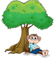 Monkey under a tree vector