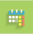Calendar icon modern flat design vector