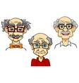 Senior men portraits collection vector