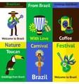 Brazil mini poster set vector