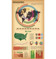Infographic elements with world map vector