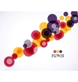 Colorful circles business background vector