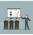 Flat design style cartoon meeting businessman vector