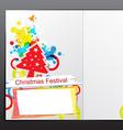 Christmas celebration brochure design vector