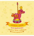 Baby shower or arrival cards - horse theme vector