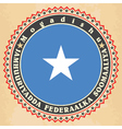 Vintage label cards of somalia flag vector