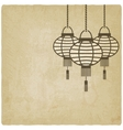 Chinese lantern old background vector