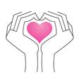 Heart in hands vector