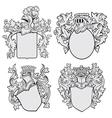 Set of aristocratic emblems no1 vector