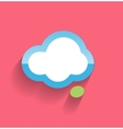 Speech cloud flat modern icon vector