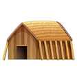 Log house vector