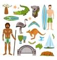 Australia icons set vector