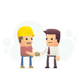 Construction contract vector
