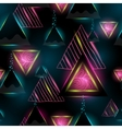 Triangle seamless pattern geometric background vector