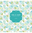 Colorful pastel triangle texture frame seamless vector