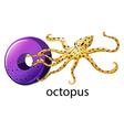 A letter o for octopus vector