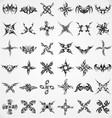 Tattoo shape elements vector