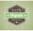 Quality retro label green organic vector