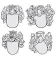 Set of aristocratic emblems no2 vector