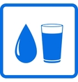 Water drop and glass vector