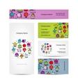 Set of business cards design sport concept design vector