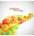 Abstract background with multicolored balloons vector