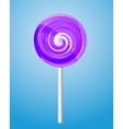 Violet candy lolipop vector