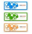 Collection web banner design vector