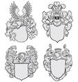 Set of aristocratic emblems no3 vector