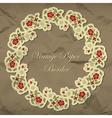 Vintage floral paper border vector