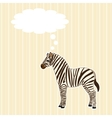 Greeting card with zebra vector