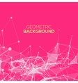 Abstract mesh background with circles vector