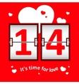 Valentines day date scoreboard vector