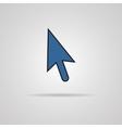 Arrow cursor icon with shadow vector