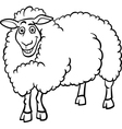 Farm sheep cartoon for coloring book vector