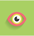 Eye icon flat modern design vector