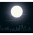 City skylines with moon vector